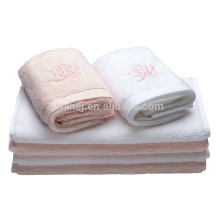 100% Cotton White Plain Bath Towels Beach Towels Hand Towels
